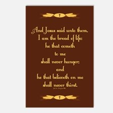 John 6:35 Wheat Postcards (Package of 8)