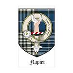 Napier Clan Crest Tartan Rectangle Sticker