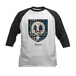 Napier Clan Crest Tartan Kids Baseball Jersey