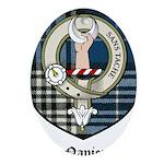 Napier Clan Crest Tartan Oval Ornament