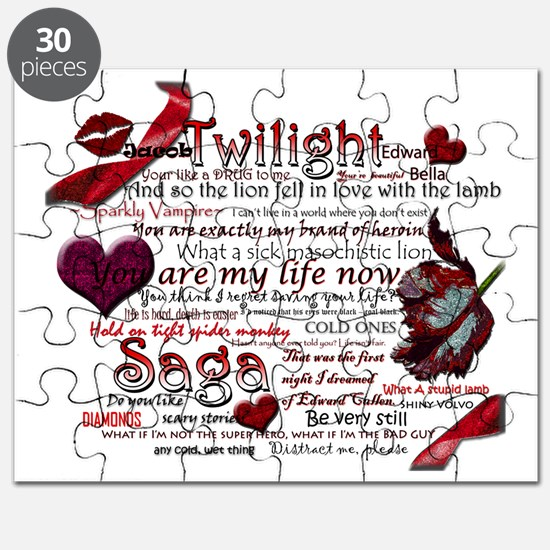 Twilight Book Quotes Puzzle
