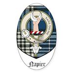 Napier Clan Crest Tartan Oval Sticker