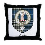 Napier Clan Crest Tartan Throw Pillow