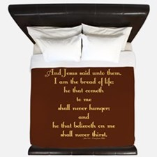 John 6:35 Wheat King Duvet