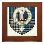 Napier Clan Crest Tartan Framed Tile