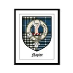 Napier Clan Crest Tartan Framed Panel Print