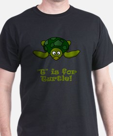 T is for Turtle Green T-Shirt