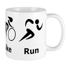 Swim Bike Run Black Mug