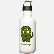 Triceratops Green Water Bottle
