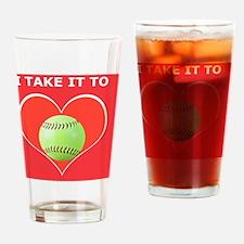 Softball iPhone 4 Slider Case, Take Drinking Glass