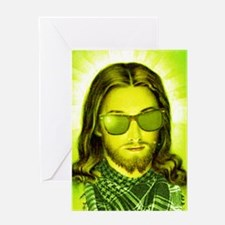hipsterjesus Greeting Card