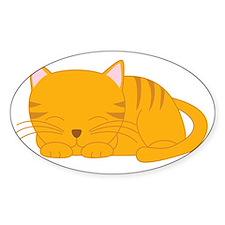 Orange Tabby Cat Decal