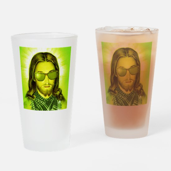 hipsterjesus Drinking Glass