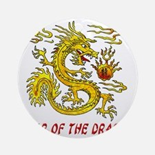 Year Of The Dragon 3D Round Ornament