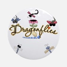 Dragonflies Ultra Round Ornament