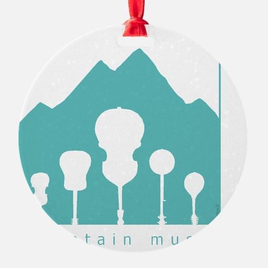 mountain music transparent Ornament