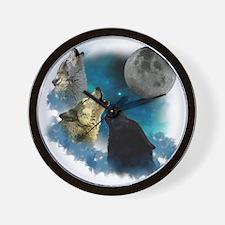 New Wolfs moon 2 Wall Clock