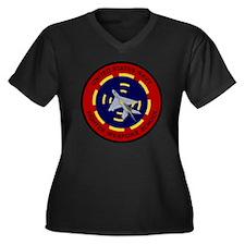 USNFWS Women's Plus Size Dark V-Neck T-Shirt