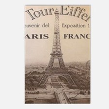 eiffel9x7.5_mpad Postcards (Package of 8)