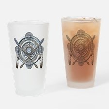 Winter Blue Dreamcatcher Drinking Glass