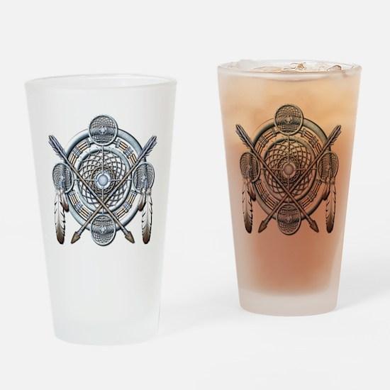 Winter Blue Dreamcatcher Drinking Glass