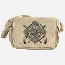 Winter Blue Dreamcatcher Messenger Bag