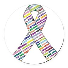 all cancer rep ribbon 2 Round Car Magnet