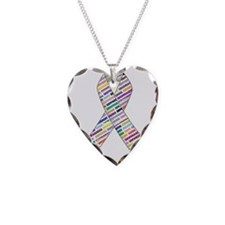 all cancer rep ribbon 2 Necklace