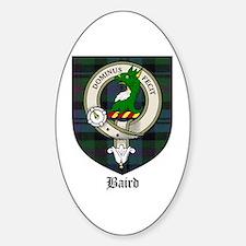 Nesbitt Clan Crest Tartan Oval Decal