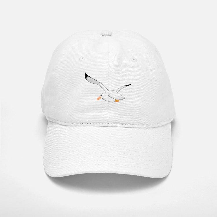 Seagull In Flight Baseball Baseball Cap