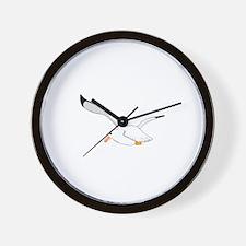 Seagull In Flight Wall Clock