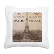 EIFFELPOSTER Square Canvas Pillow