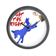 fight-the-right Wall Clock