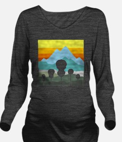 mountain music color Long Sleeve Maternity T-Shirt