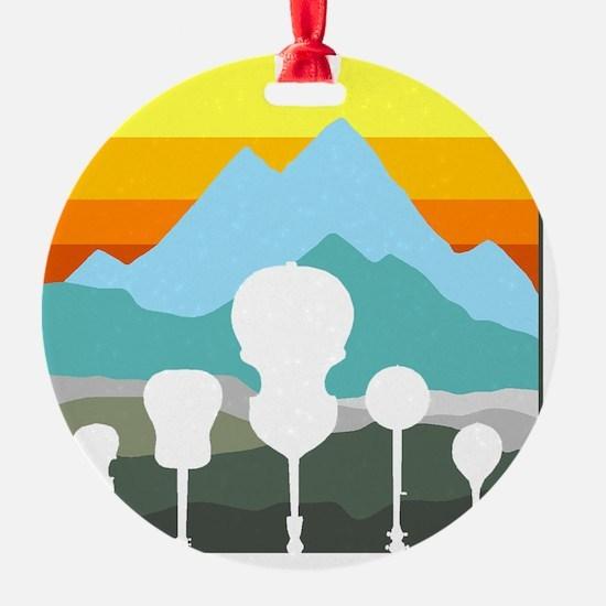 mountain music color transparent Ornament