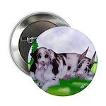 Harlequin Great Dane Duo Button