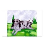 Harlequin Great Dane Duo Postcards (Package of 8)