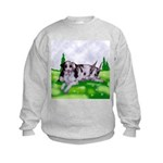 Harlequin Great Dane Duo Kids Sweatshirt