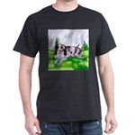 Harlequin Great Dane Duo Dark T-Shirt