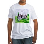 Harlequin Great Dane Duo Fitted T-Shirt