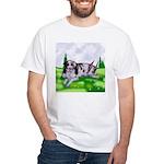 Harlequin Great Dane Duo White T-Shirt