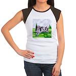 Harlequin Great Dane Duo Women's Cap Sleeve T-Shir