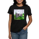 Harlequin Great Dane Duo Women's Dark T-Shirt