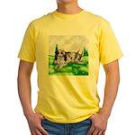 Harlequin Great Dane Duo Yellow T-Shirt