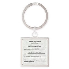 Detention claire Square Keychain