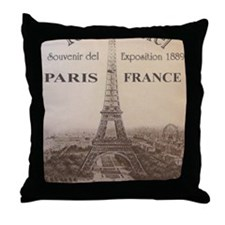 eiffel9x12_print Throw Pillow