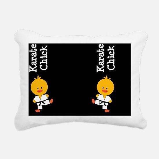 KarateChickFlipFlopsCP Rectangular Canvas Pillow