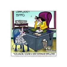 "7355_insurance_cartoon Square Sticker 3"" x 3"""