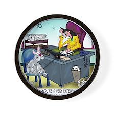 7355_insurance_cartoon Wall Clock