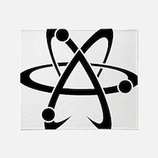Atheist A black Throw Blanket